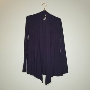Bailey 44 | Dark Purple Open Front Cardigan